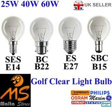 Clear Golf Ball Light Bulbs 25W 40W 60W - SES / SBC / ES / BC