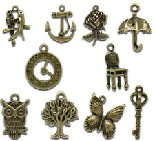 Wholesale Lots Mixed Bronze Tone Charms Pendants 18x17mm - 27x9mm