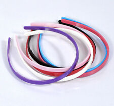 Wholesale Lots Mixed Plastic Teeth Hair Band Headbands 8mm wide