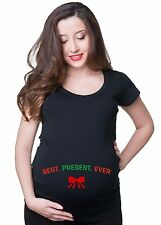 Best Christmas Gift T shirt pregnancy Maternity Tee T-Shirt for Pregnant Woman