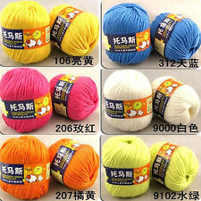 New Worsted Super Soft Smooth Natural Silk Wool Fiber Baby Yarn Skein Lot 50g