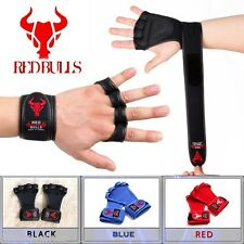 [RED BULLS] Power Strap Weight Lifting Martial Arts Body Building Gym Gloves