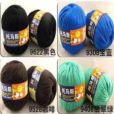 Wholesale Sweater New Silk wool cashmere warm soft baby yarn Knitting 50g