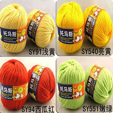New 50g Worsted Sweater Soft Wool Cashmere Knitting Knitted Warm Baby Yarn