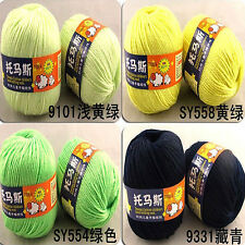 New Worsted Sweater Soft Wool Cashmere Knitting Knitted Warm Baby Yarn 50g