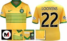 *13 / 14 - NIKE ; CELTIC AWAY SHIRT SS + ARM PATCHES / LOOVENS 22 = KIDS SIZE*