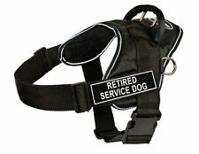 DT Fun Dog Harness in Reflective Trim with Velcro Patch RETIRED SERVICE DOG