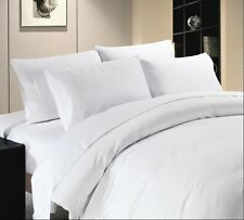 USA TRUE WHITE SOLID 1000TC 100%EGYPTIAN COTTON SHEET SET WITH EXTRA DEEP POCKET