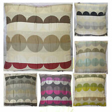 43cmx43cm CIRCLE LINEN Sofa Cushion Covers Available In Choice Of Colours 17X17