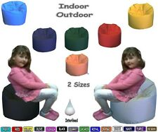 Childrens Beanbags Indoor Outdoor Kids Classic Pear shape Prefilled Interline