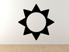 Weather Symbol #5 - Sunny Summer Day Forecast  - Vinyl Wall Decal Art