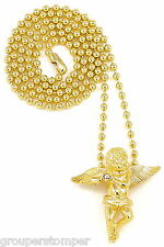 Angel Necklace New Mini Pendant 27 Inch Ball Style Chain Wings Spread