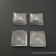 50-500x Clear Square Glass Cabochons Flat Back Fit Cabochon Settings 15-35mm Lot