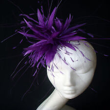 Purple Feather Fascinator for Weddings , Proms and Races