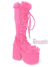 Demonia Hot Pink Camel 311 Go Go Boot