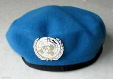 U.N United Nations Peacekeeping Army Beret HaT + Badge
