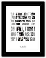 THE STONE ROSES Ten Storey Love Song  ❤ lyric poster art print A1 A2 A3 or A4
