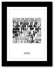 ❤  THE STONE ROSES Waterfall ❤ lyric typography poster art print A1 A2 A3 or A4