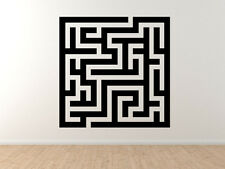 Square Maze - Rectangular Puzzle Labyrinth Path Finding - Vinyl Wall Decal Art