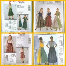 Burda Sewing Pattern Ms Dirndl Dress Apron Blouse German Folkwear Costume w Plus