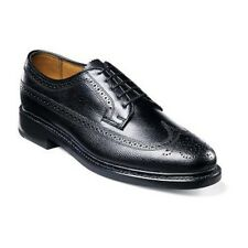Florsheim Imperia Mens shoes Cyber Monday long Wing Tip Leather Black Tumbled