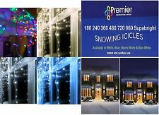 Christmas Xmas 240 360 480 720 960 Led Lights Snowing Icicles In / Outdoor WHITE