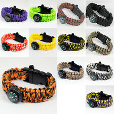 Camping Para cord Buckle Survival Bracelets Emergency Strap with Compass Whistle