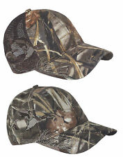 Duck Hunting Mallards Realtree Max4 Camouflage Mesh Back or Solid Hat Cap Velcro