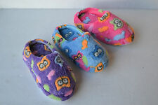 LA-292k Kids Girls Winter Indoor Warm Soft Slippers Pattern Printed Cotton Shoes