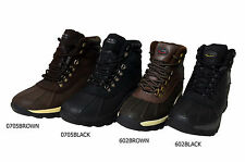 Men's Genuine Leather Waterproof Warm Insulated Lace Up  Winter Snow Boots Shoes