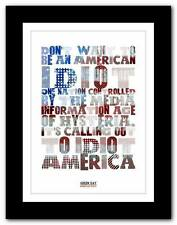 ❤ GREEN DAY American Idiot ❤ song typography art poster print - A1 A2 A3 or A4