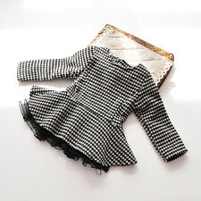 1857 Boutique Houndstooth Top Flared Sweep Fleece Lined Zipper Back Very Chic
