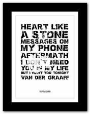 ❤ THE COURTEENERS Van Der Graaff ❤ song words art poster print - A1 A2 A3 or A4