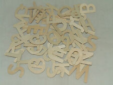 WOODEN ALPHABET LETTERS UPPER CASE CAPITALS 5cm HEIGHT CRAFT MAKING