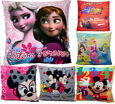 NEW KIDS GIRLS BOYS CHILDRENS DISNEY FILLED CUSHIONS PILLOWS