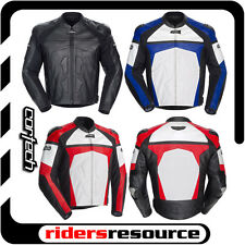 Cortech Adrenaline Leather Street Motorcycle Jacket (Choose Size & Color)