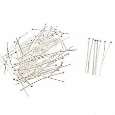 100 x Silver Plated Ball Head Pins 25mm Jewellery Making/Beading Craft Findings