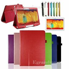 Folio Leather Case Cover Stand For Samsung Galaxy Note 10.1 2014 Edition SM-P600