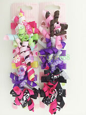 Girl Kid baby Butterfly Flower Blossom Curly Bow Hair Clip clipper Birthday gift