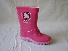 GIRLS SYNTHETIC HELLO KITTY PINK WELLINGTONS
