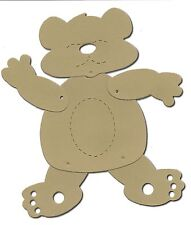 5 x Jointed action teddy bear card die cuts accucut inc fasteners kids craft kit
