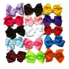 "3""  Boutique Hair Bows Girls Baby Alligator Clip Grosgrain Ribbon Headbands Lot"