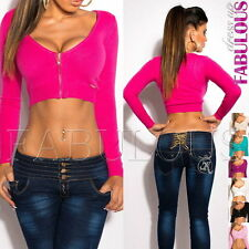 New Sexy Women's Knitted Crop Top 6-8-10 Jumper Sweater Jacket Online Shopping