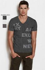 New Armani Exchange AX Mens Muscle/Slim Fit Modern Grid Tee Shirt