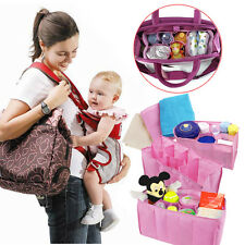 Nursing Baby Travel Storage Diaper Bags Inner Organizer Milk Bottle Divider New