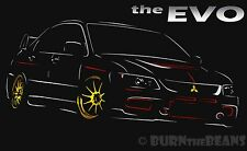 Mitsubishi EVO t Shirt New Graphic Lancer Ralliart Black Mens Tee EVOLUTION
