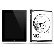 Meme Troll No Funny Cool Retro Quirky Tablet Case Shell for iPad 2, 3 & 4