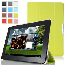 "For Asus Memo Pad FHD 10 Me302c 10.1"" Wake Up Slim Cover Leather Flip Case Green"