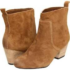 Joe's Jeans Filomenia Camel Ankel Boot Suede Pull on Bootie Hunter Style Brown
