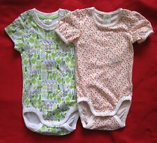 1pc H&M Baby Boy Girl Unisex Organic Cotton green bird floral bodysuit one-piece